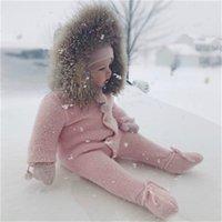 Neonato bambino carino cappotto spesso bambino inverno vestiti con cappuccio cappotto infantile ragazza ragazza ragazzo caldo cappotto bambini abiti vestiti ragazze costume 280 z2