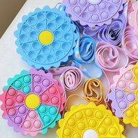 Mini Sensory Bubbles Messenger Shoulder Purse Fidget Toys Antistress Popping Simple Dimple Finger Toy Decompression Push Autism Stress Relief Gift for Kid Girls