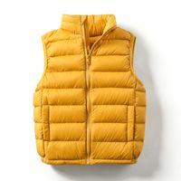 Kids Waistcoat Ultralight Baby Winter Puffy Down Vest Portable Children Windproof Outerwear Boys Girls Sleeveless 2098 Z2