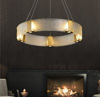Postmodern chandelier light  living room glass lamp Nordic modern minimalist dining bedroom style lamps