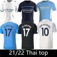 2021 2022 Manchester Soccer Jersey Home and Weight 22 22 G. Jesús City Sterling Ferran de Bruyne Kun Agüero Camisetas de fútbol Hombre Uniforme Hombres Calidad tailandesa