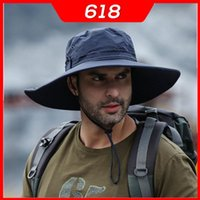 Outdoor Hats Summer Sunshade Fisherman Hat Men's Sun Protection And UV Big Brimmed For Fishing Waterproof Quick-drying