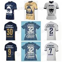 2021-2022 UNAM Futebol 14 Gutierrez Jerseys Mexican Club 9 Dinenno 12 Waller 22 Vigora 8 Torres 5 Vasquez 6 Lira Camisa de Futebol Kits