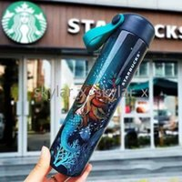 16oz Starbucks THERMOS THERMOS THERMOS TUMS POINTS Vasque à vide Tasse en acier inoxydable Bouteille de voyage