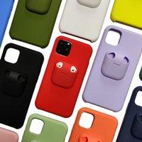 Original líquido Silicone Airpods Pro Carcasas de teléfono para iPhone 12Pro 11PRO X XS MAX XR 8 7 6 6S PLUS SAMSUNG S21 S20 S10 Note 10 20 BUENA CASO DE SENTECCIONISTRACIÓN DE TUCH TUCH HIPHERPRINT