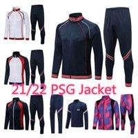 21 22 messi soccer tracksuits MBAPPE Psgs football training suits kit futbol Men Adult Hommes jacket sets Survetement Long sleeves Sportswear top