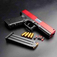 Glock lança shell soft tiktok, a mesma arma de simulação de criança, pistola de brinquedo de menino.