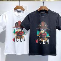 2021 Moda Icon Designer Erkek Kadın T Gömlek # DT072 Kapalı Yaz Klasik Akçaağaç Yaprak Tees Essentials Beyaz Harfler Baskı Rahat Giyim