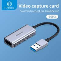 Hagibis Video Capture Card USB 3.0 4K HDMI-compatible Video Game Grabber Record for PS4 Camcorder Switch Live Broadcast Camera