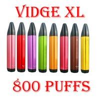 Original VIDGE XL Disposable Pod Device Kit E-cigarettes 800 Puffs 500mAh Battery 3ml Prefilled Pods Cartridges Vape Stick Pen Vs Puff Bar Plus XXL 100% Authentic