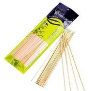 Accesorios 30 cm Longitud Hoomall 100PCSDozen Mats Bambú Pinchos Grill Shish Wood Sticks Barbacoa BBQ Herramientas Churrasco Desechable DDLRH XRYT9