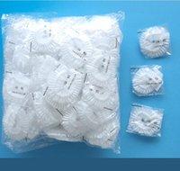 Dicke Einweg-Duschkappe 100pcs / Tasche Transparente Spa-Salon-Hotel-elastisches Badezimmer-Accessoriess Große Qualität