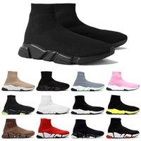 مصمم 2021 عارضة أحذية متماسكة سرعة جورب عداء تمتد متماسكة الانزلاق على أحذية رياضية منتصف ضوء الاحذية أسود الثلاثي الثلاثي سنيكر رجل إمرأة الأحذية