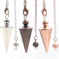 Pendant Necklaces & Pendants Jewelrycone Metal Pendum For Antique Copper Gold-Color Spiritual Pendo Healing Pende Women Men Fashion Jewelry