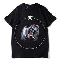 Impreso para hombre camiseta de verano Crane de algodón Hip Hop Forme la camiseta de manga corta para hombres y mujeres Tamaño del perro malvado M-XXL