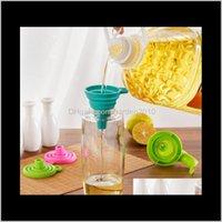 Küche, Essbar Home Garten Drop Lieferung 2021 Multi Folding Mini Teleskops Sile Leck Kleine Flüssigkeit Öl Trichter Großer Durchmesser Fruit Veg