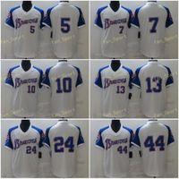 Mens 5 Freddie Freeman Baseball Jerseys 7 Dansby Swanson 10 Chipper Jones 13 Ronald Acuna Jr 24 Deion Sanders 44 Hank Aaron Stitched Cool Base Team White