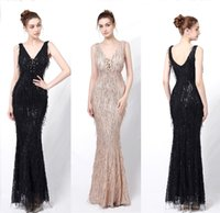 Sparkly Bling Sequined V Neck Mermaid Bridesmaid Dresses 2021 Plus Size Maid Of The Honor Gowns Wedding Dress