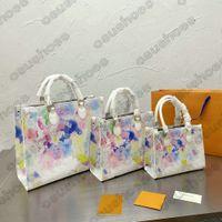 Onthego Graffiti GM MM PM Business Socious Bag Womens Designers Luxurys Ручка Crossbody Сумки на плечо Дамы на сумках Go