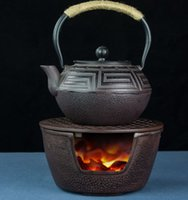 Kleine Gusseisen Holzkohle Barbecue Grills BBQ Tragbare Retro Mini Teeofen Heizung Herd Kerzenhalter Teekanne Base 15 * 8,5 cm 118