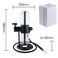유리 봉유 굴착기 물 파이프 샤워 헤드 퍼크 흡연 물 담뱃대 사이드카 리사이클 DAB 조작 7 인치 14mm 그릇 조각 봉