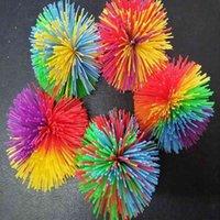 Silicone Koosh Ball Sensory Fidget Toys Caoutchouc Soldy Caoutchouc Pom Boules De Dough Stress Région de Soulagement ADN Popper Autisme ADHD Dire Active Squeeze Toy H48CCKU