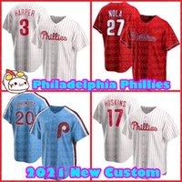 Bryce 3 Harper Philadelphie 27 Aaron Nola Phillies 17 Rhys Hoskins Jerseys Baseball J.T. RealMuto Jean Segura Didi Gregorius Adam Haseley