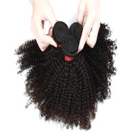 9a Afro kinky вьющиеся вьющиеся волосы наращивание 3 пакета или 4 пакета бразильский индийский малазийский 100% девственница человеческих волос натуральный цвет 8-28 дюймов