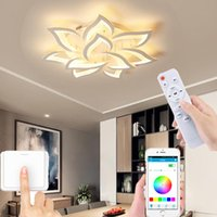 Ceiling Lights Modern Living Room LED Lamp Bedroom Dining Chandelier APP Smart Remote Control Dimming Factory Sales
