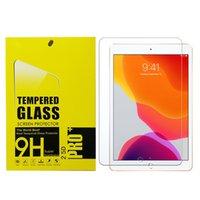 9H 강화 유리 스크린 보호 필름 iPad Pro 10.5 11 AIR 4 10.9 10.2 미니 Samsung 탭 A7 T500 T510 S5E T720 S6 T860 P610 Active3 T570 S7 T870 T290 P200 소매 패키지