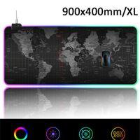 Keyboard Mouse Combos Pad Gaming 900x400 мм Moms Partpad для XL 14 LED Lighting-Mode Bard