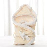 MOTOHOOD Winter Baby Boys Girls Blanket Wrap Double Layer Fleece Baby Swaddle Sleeping Bag For Newborns Baby Bedding Blanket Kid 1527 Y2