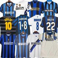 Finale 2009 10 Milito Sneijder Zanetti Retro Fußball-Jersey EtO'O Fútbol 95 96 97 98 99 02 03 Djorkaeff Baggio Ronaldo Adriano Mailand 10 11 07 08 09 Inter Batistuta Zamorano
