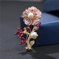 Булавки, броши красивые натуральные пресноводные барочные жемчужины брошь Булавки мать цветка для женщин подарки роскошные украшения