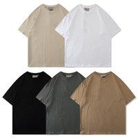 21ss Diseñador Tide T Shirts Carta de pecho Impresión laminada Impresión corta Street High Street Flow Oversize T-shirt 100% Tops de algodón puro para hombres y mujeres