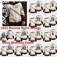 피츠버그 펭귄 2021 Reverse Retro Hockey Jerseys Bryan Rust Marcus Pettersson Zach Aston-Reese Evan Rodrigues Cody Ceci 사용자 정의 스티치
