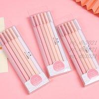 6pcs set Cute Gel Pens Kawaii Quick Drying Cap Neutral Pen Bullet Journal Supplies Gel Pen Set Art Supplies Stationery