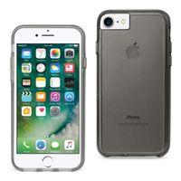 Reiko iPhone 7/8 / SE Coperchio del protettore in TPU TPU trasparente con paraurti extra interno in grigio chiaro