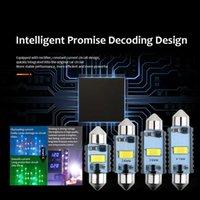 1X Highbright 자동 LED 램프 디코딩 Festoon C10W C5W Canbus 없음 오류 없음 31 / 36 / 39 / 41mm 전구 자동차 인테리어 독서 가벼운 흰색 다이오드