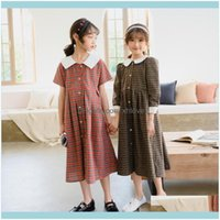 Baby Clothing Baby, & Maternity Spring And Summer Plaid Retro Girl Fashion Dress Children Kids Dresses For Girls Toddler Clothes Cute,#5663