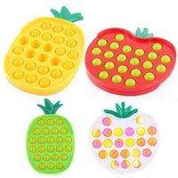 Push Pop Fidget Toys Sensory Tok Tok Tok Bubble Poppers Board Tomate Ananas Fruit Coo-Son doigt Puzzle Soulu Relief Soulagement Family Bureau Jeux de Bain Toys G54NLQ2