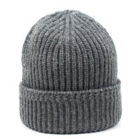LDSLYJR 2021 Autumn and winter Acrylic Solid Color Thicken knitted hat warm hat Skullies cap beanie hat for men and Women 127