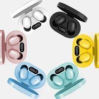 Earphones A6S E6S TWS Headphone Bluetooth 5.0 Wireless Earbuds Waterproof Headset OLED Display Earphone With Mic For All Goodphone DHL
