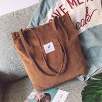 Сумки для женщин 2021 CORDUROY Сумка на плечо Многоразовые сумки повсеместные сумки повседневные Tote женская сумка для определенного количества Dropshipping