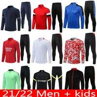 21 22 22 uomini formazione abito uomo bambini marziali rashford supersteement football giacca sportswear jogging utd 2021 città sancho united soccer tucksuit