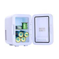 6L Pequeño mini refrigerador portátil Frigorífico frigorífico para enfriadores al por mayor refrigeradores calentadores (0.21 COFT / 8 lata) AC / DC Gray