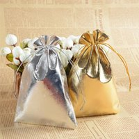 5 sizes Fashion Gold Silver Plated Gauze Satin Jewelry Bags Jewellry Christmas Gift Pouches Bag 5x7cm 7X9cm 9x12cm 13x18cm 10x15cm