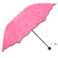 3 مطوية الغبار المضادة للأشعة فوق البنفسجية مظلات ظلة مظلة ماجيك زهرة قبة الشمس المحمولة EWD5983