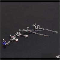 Jewelry1Piece Diameter 0Dot8Mm Piercing For Women Trendy Jewerly Wings Heart Snake Flash Stud Earrings Wholesale Drop Delivery 2021 Sz4Mv