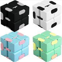 Cute Children Push Pop It Fidget Bubble Toys Kids Macarone's Infinite Cube Decompression Plastic Dice Pocket Unlimited Flip Upgrade BWA